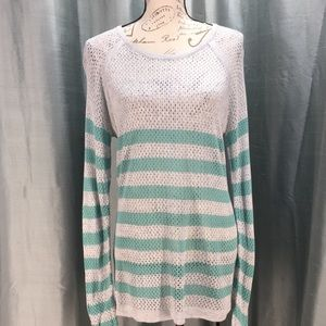 Converse gray and teal loose knit sweater